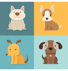 set of cartoon dogs in flat style vector image vector image