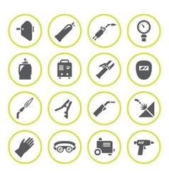Set round icons of welding vector image vector image