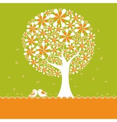 springtime tree vector image