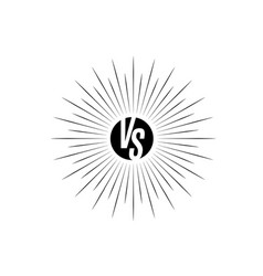versus icon vs letters is into round circle shape vector image vector image