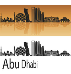 abu dhabi v2 skyline vector image vector image