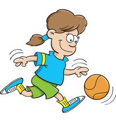 Cartoon Basketball Girl vector image vector image