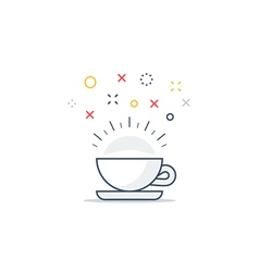 Energizing drink refreshing tea and coffee cup vector image vector image