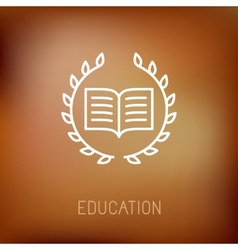 line book icon vector image