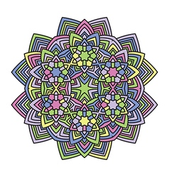 mandala flower 1 vector image vector image