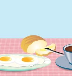 Morning Breakfast vector image