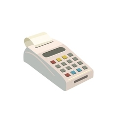 POS terminal with icon cartoon style vector image