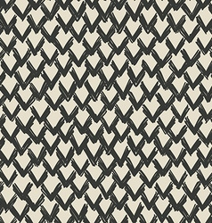 zigzag drawn pattern vector image vector image