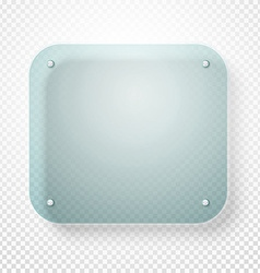 Advertising glass board on transparent background vector image vector image