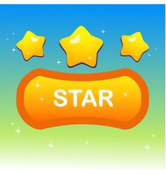 Cute stars on shape text box and blink stars vector