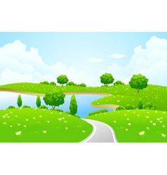 green city landscape vector image vector image