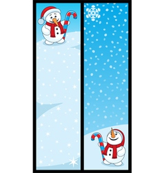 snowman banners vector image vector image