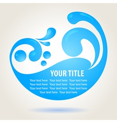 Water design background vector image