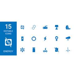 15 energy icons vector