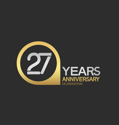 27 years anniversary celebration simple design vector
