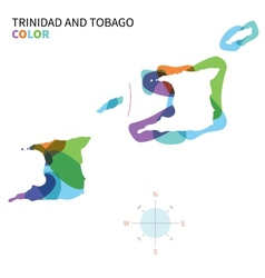 Abstract color map of Trinidad and Tobago vector image