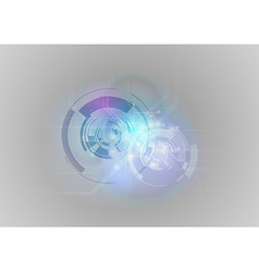 Abstract tech blue grey vector