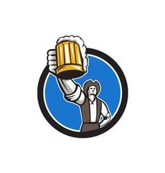 American patriot craft beer mug toasting circle vector