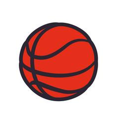 basketball ball sport game vector image