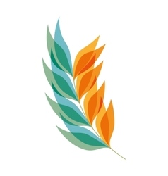 Blue and orange leaves plant vector