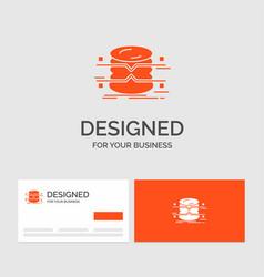 business logo template for database data vector image
