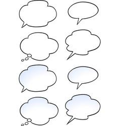 Cartoon a set speak bubble vector