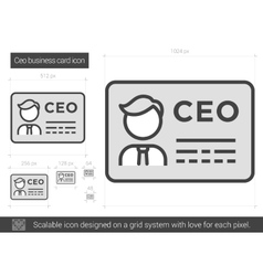 Ceo business card line icon royalty free vector image ceo business card line icon vector image colourmoves Choice Image