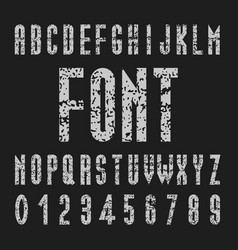 chalk font design tall alphabet and number vector image