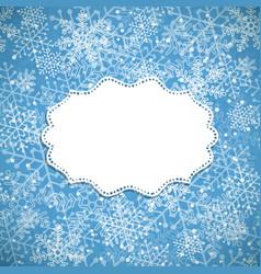 Christmas background white frame vector