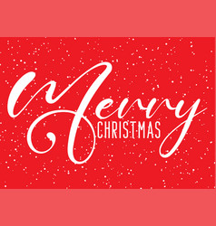 christmas background with decorative text vector image