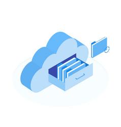 Cloud data storage vector