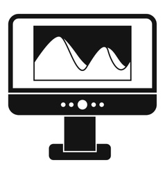 Computer monitor with photo on screen icon vector image