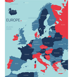 europe ontinent map vector image
