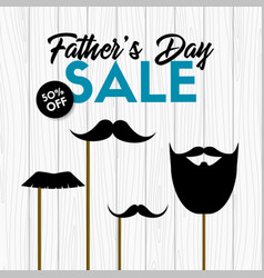 fathers day sale banner with photo props vector image
