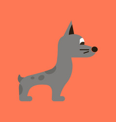 Flat icon on background dog smiles vector