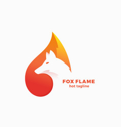 Fox flame abstract symbol sign or logo vector