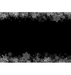 Frame with drawn snowflakes layered vector image