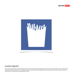 French fries icon - blue photo frame vector