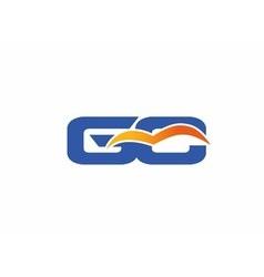 GC letter logo vector image