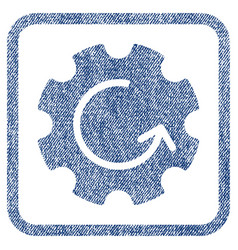 gear rotation fabric textured icon vector image