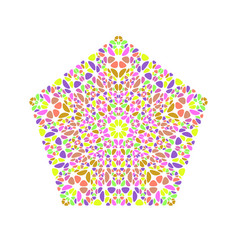 Geometrical ornate isolated abstract petal vector