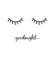 Good night slogan slogan vector