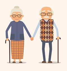 grandparents image happy couple in cartoon vector image