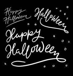 Halloween trick or treat hand written typography vector