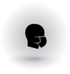 human head with with medical mask on face vector image