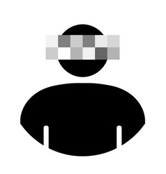 icon noname anonymous with a blurry face vector image