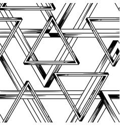 impossible infinite triangles seamless pattern vector image