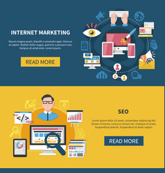 Internet marketing banners vector