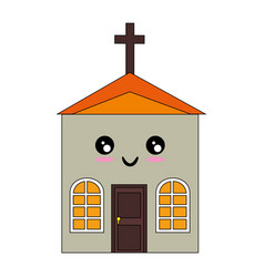 Isolated big church vector