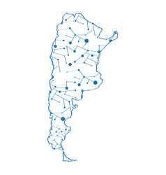 isolated map of argentina vector image
